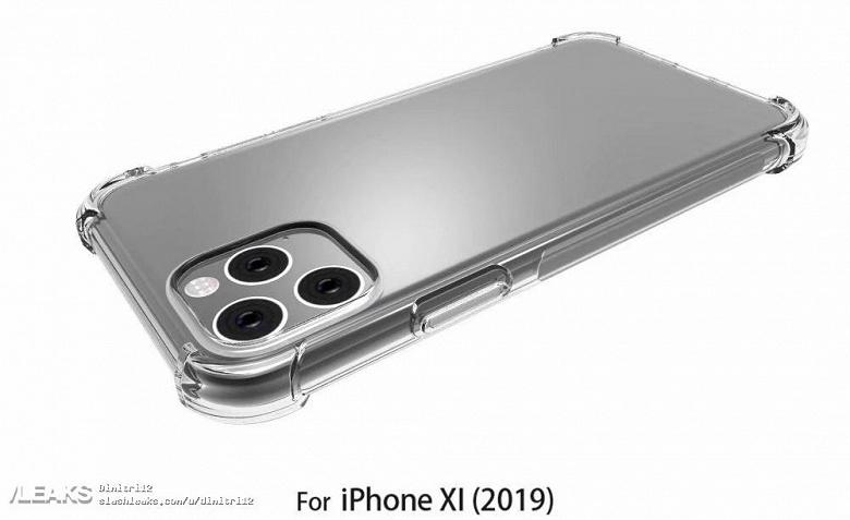 Изображения iPhone XI Max в чехле подтверждают прямоугольную основную камеры с тремя датчиками