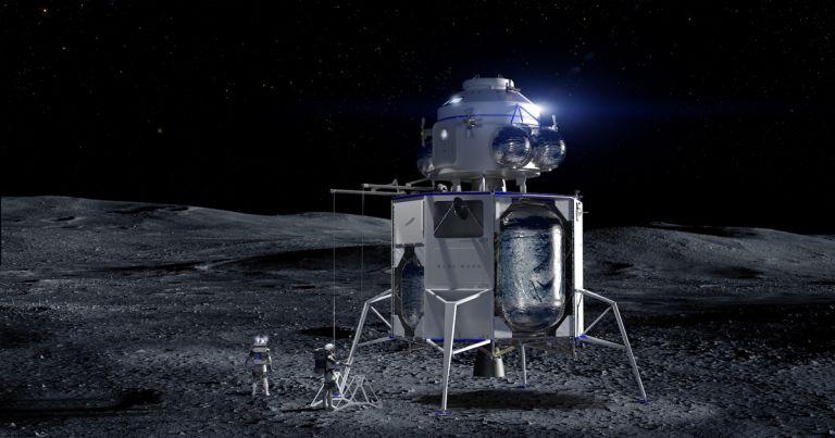 Илон Маск прокомментировал презентацию лунного модуля Джеффа Безоса - 1