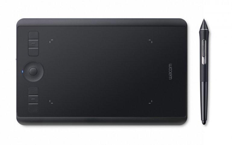 Планшет Wacom Intuos Pro Small комплектуется пером, распознающим 8192 уровня нажатия и чувствительным к углу наклона