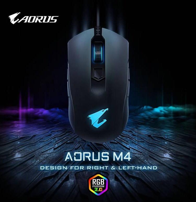 Игровая мышь Aorus M4 подходит правшам и левшам
