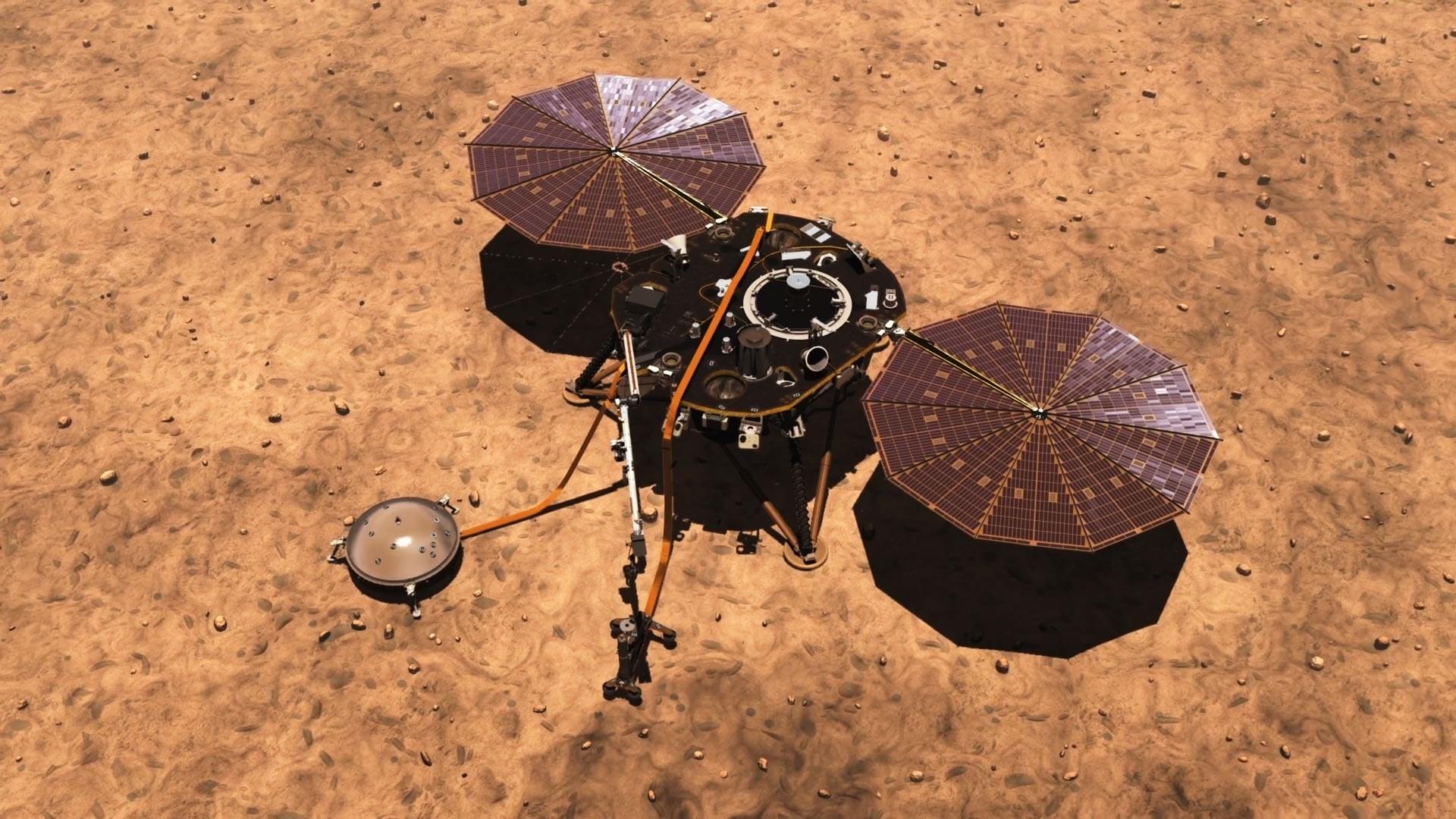 Марсианский ветер почистил солнечные панели зонда InSight - 1