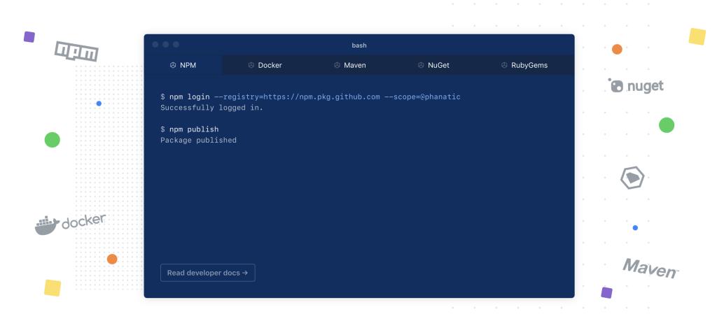 Представлен GitHub Package Registry - 2