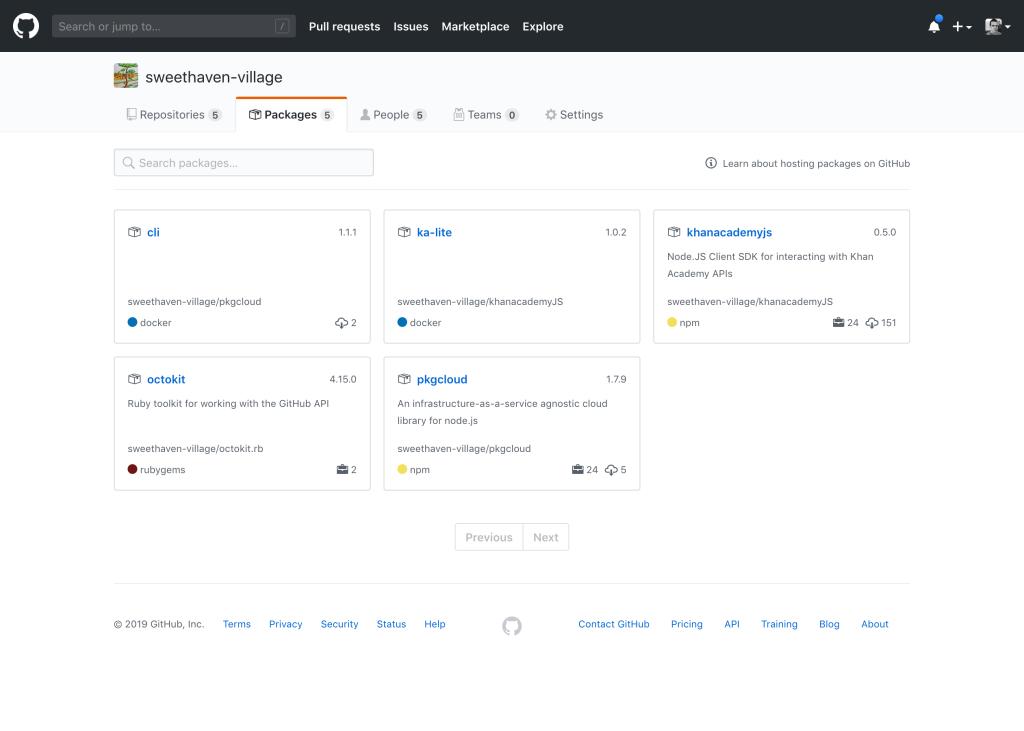 Представлен GitHub Package Registry - 3