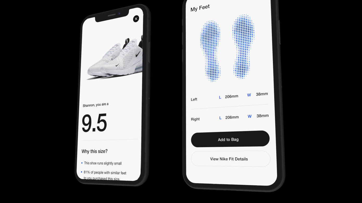Nike предложила использовать AR для определения размеров ступни покупателя при выборе обуви - 1