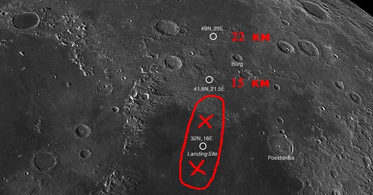 Найдено место падения аппарата «Берешит» на Луну - 2