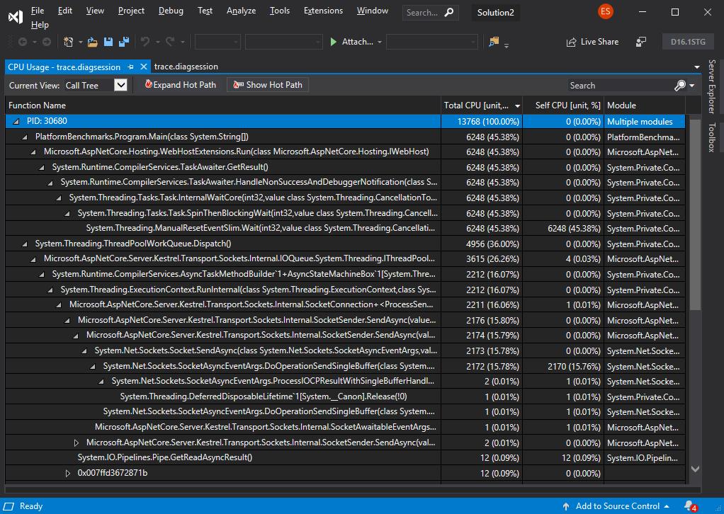 Улучшения диагностики в .NET Core 3.0 - 4