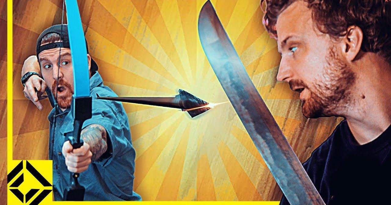 Можно ли разрубить мечом летящую стрелу