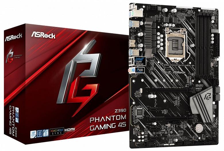 Представлена системная плата ASRock Z390 Phantom Gaming 4S