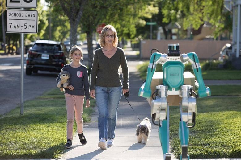 Не дронами, а роботами. Ford предлагает доставлять посылки людям при помощи человекоподобных роботов Digit