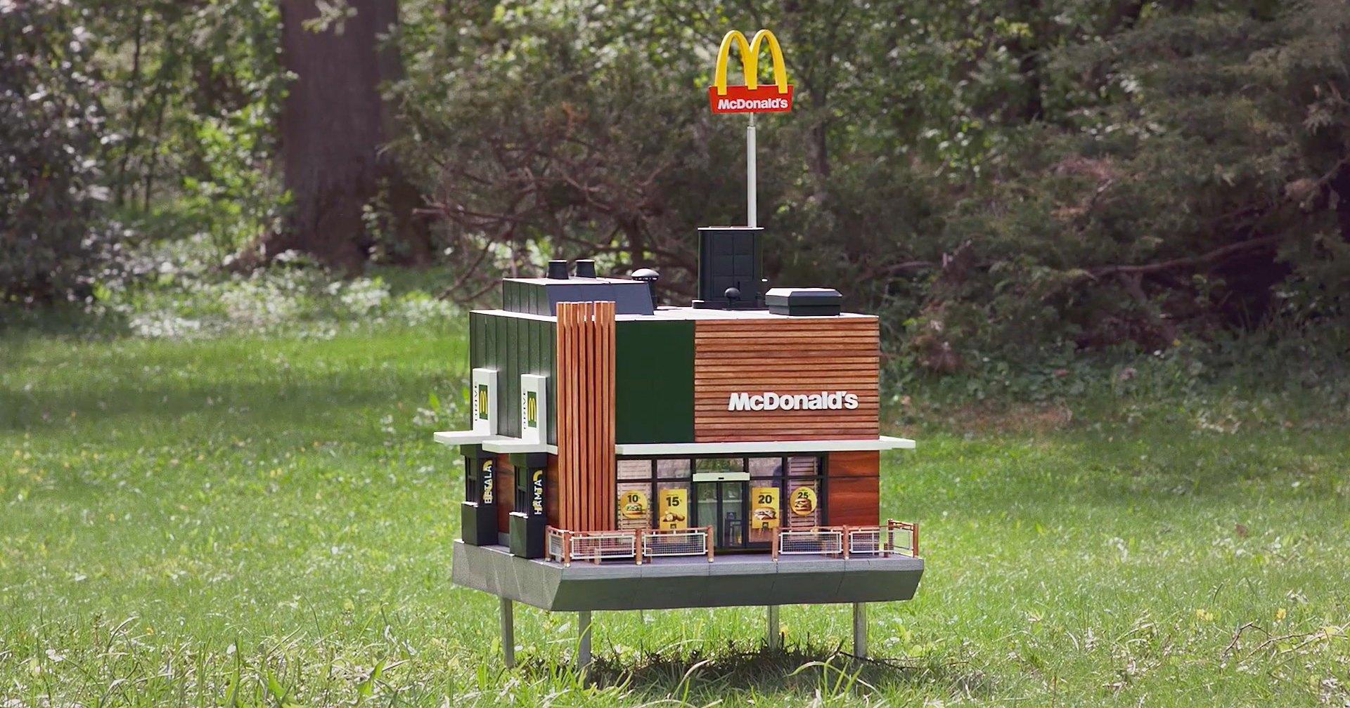 Пчёлам построили крошечный McDonald's