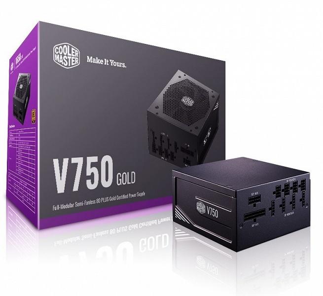 Серию блоков питания Cooler Master V Gold открыли модели мощностью 650 Вт и 750 Вт