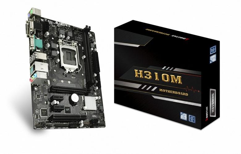 Системная плата Biostar H310MHG поддерживает процессоры с TDP до 95 Вт