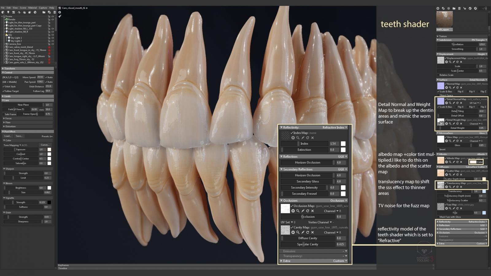 Искусство создания органических 3D-моделей: субдермальные шейдеры - 13