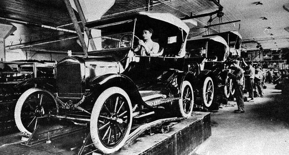 Как выглядел сто лет назад конвейр Форда