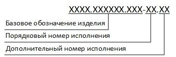 Применение номера исполнения и дополнительного номера исполнения