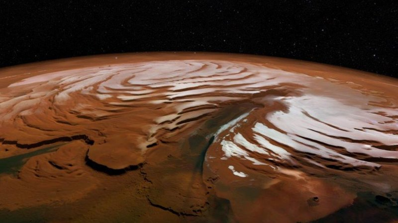 На Марсе обнаружили остатки прошлых полярных шапок