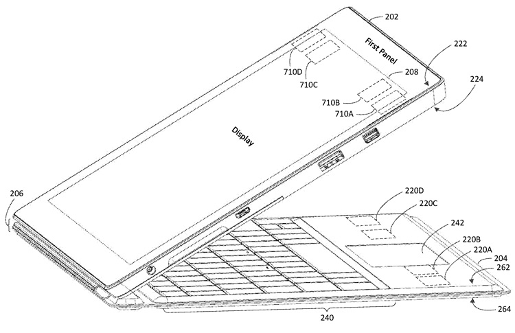 Патентная документация раскрывает особенности планшета Microsoft Surface Pro 7