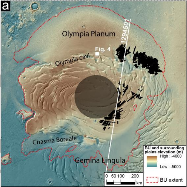 Марс — еще больше льда в районе северного полюса, но глубоко - 11