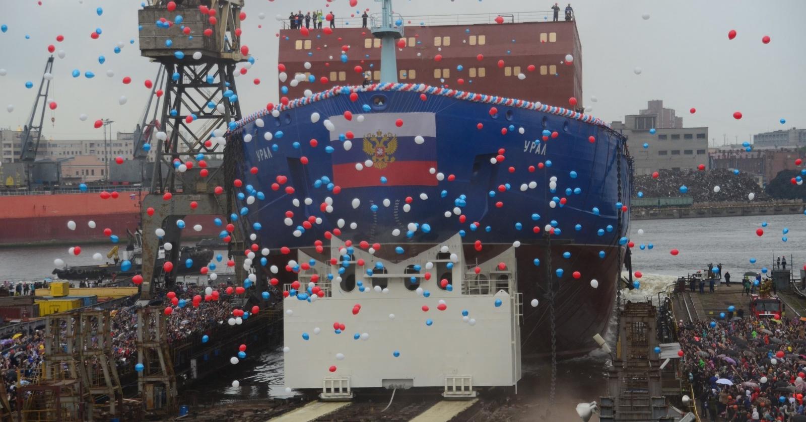 Атомный «Урал»: спуск на воду нового русского ледокола