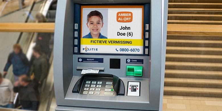 В Нидерландах стали использовать банкоматы для поиска детей