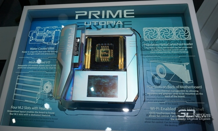 Computex 2019: ASUS представила очень необычную материнскую плату Prime Utopia