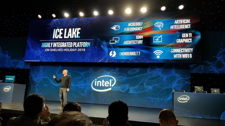 Intel представила десятое поколение процессоров Ice Lake 10 нм - 1