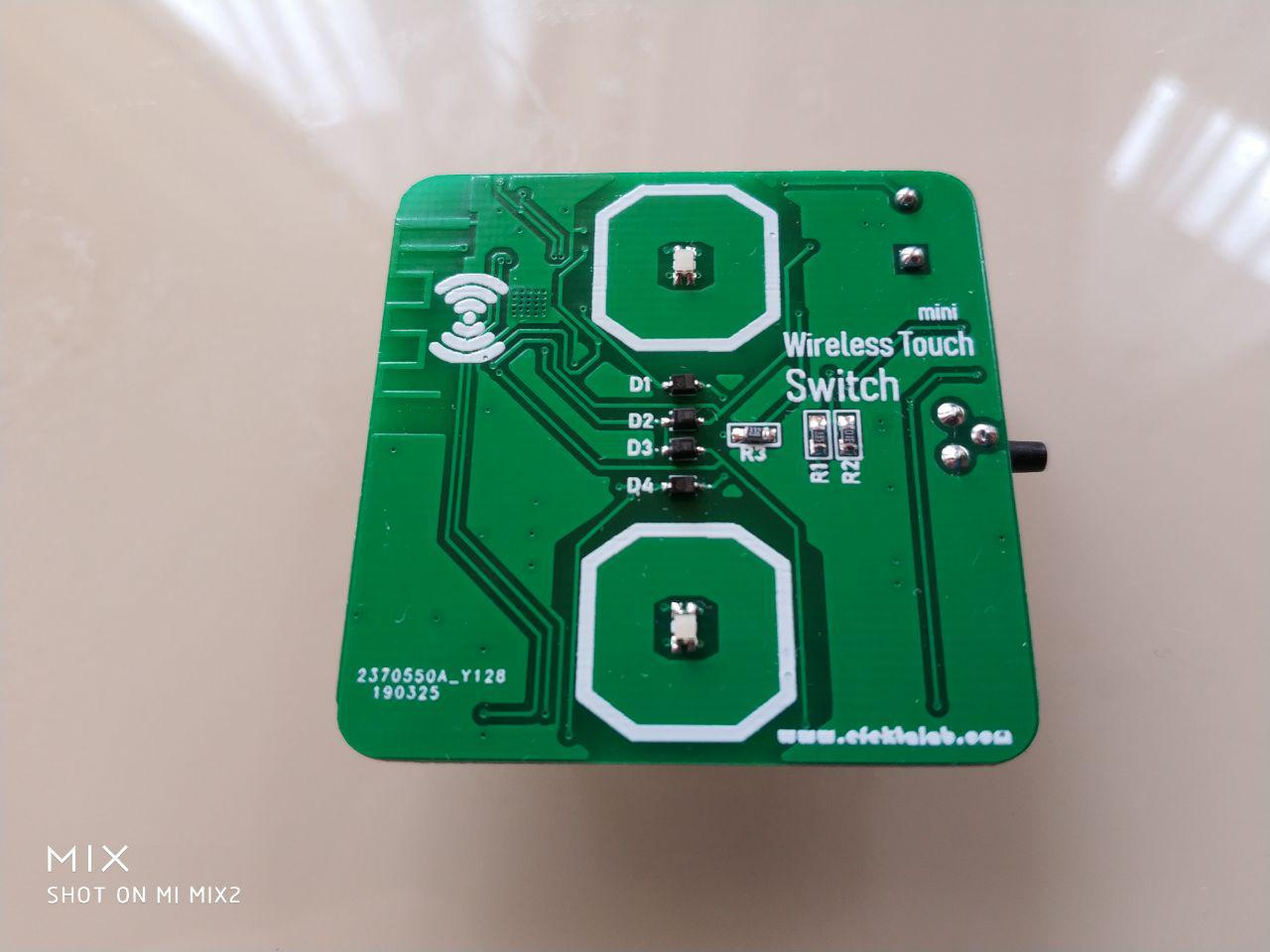 Сенсорный мини выключатель cо стеклянной панелью на nRF52832 - 3