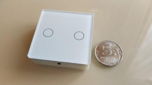Сенсорный мини выключатель cо стеклянной панелью на nRF52832 - 1