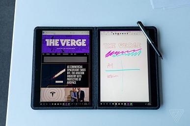 Intel Twin River — мобильное устройство, похожее на два планшета, заключённых в одном чехле из полиэстера и лайкры