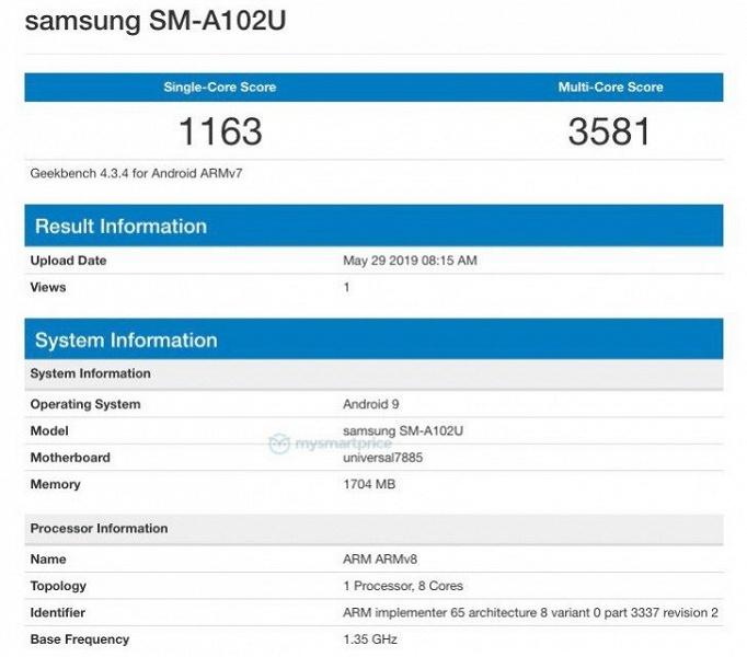 Samsung Galaxy A10e получил SoC Exynos и 2 ГБ ОЗУ