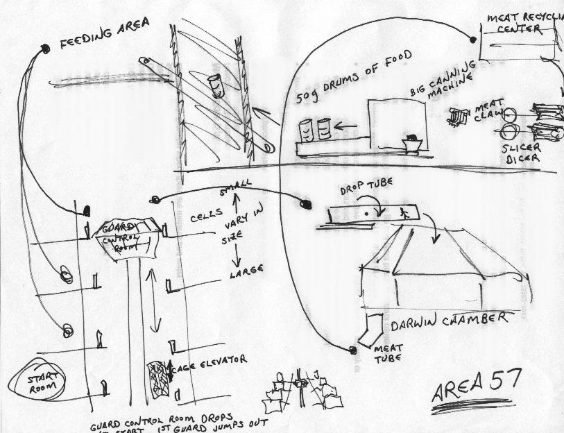 История дизайна уровней Duke Nukem (с эскизами Левелорда) - 19
