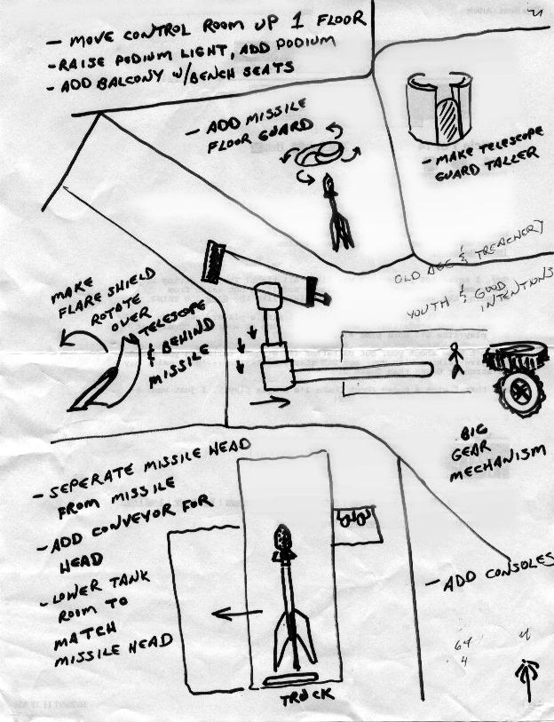 История дизайна уровней Duke Nukem (с эскизами Левелорда) - 20