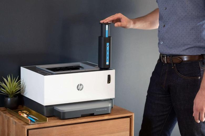 Производитель называет HP Neverstop Laser первым в мире лазерным принтером без картриджа