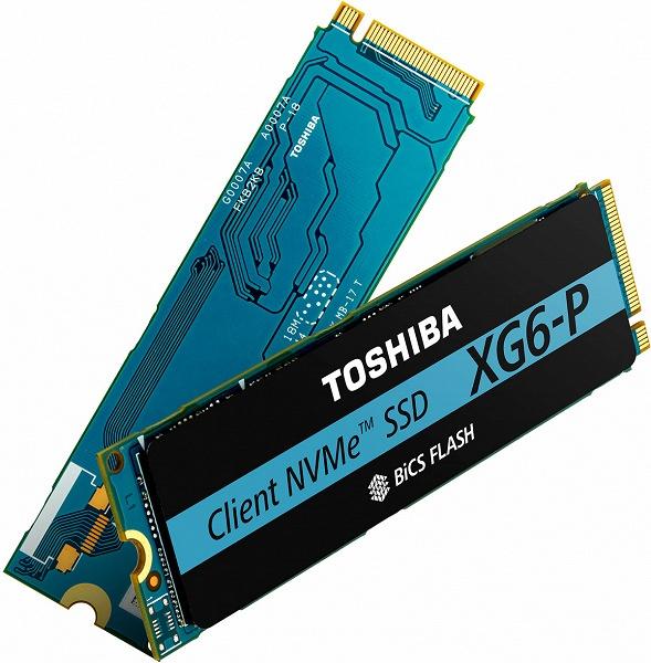Серия твердотельных накопителей Toshiba Memory XG6-P включает модели объемом до 2 ТБ