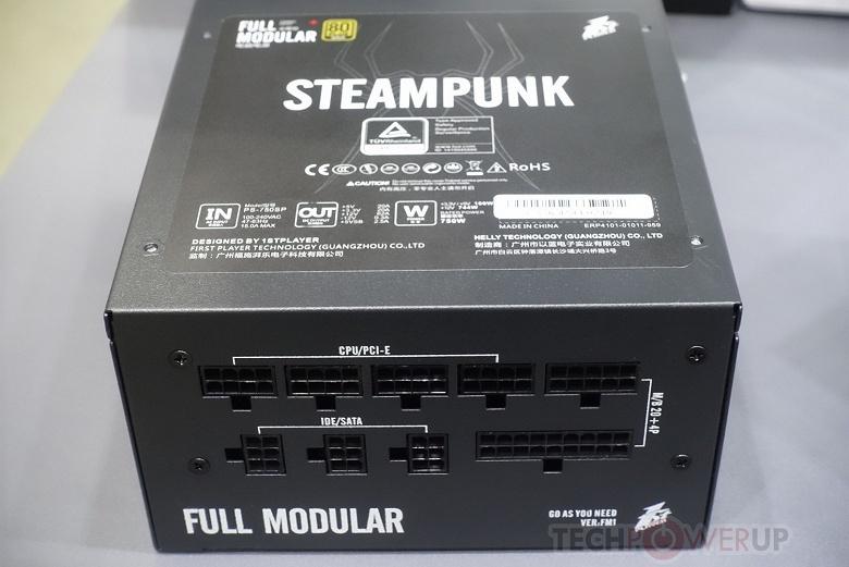 Блоки питания 1stPlayer Steampunk выглядят совсем не так, как можно было бы ожидать