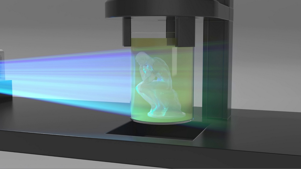 Фотополимерный 3D-принтер из бытового видеопроектора создает объекты без слоев - 5