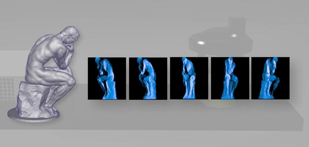 Фотополимерный 3D-принтер из бытового видеопроектора создает объекты без слоев - 1