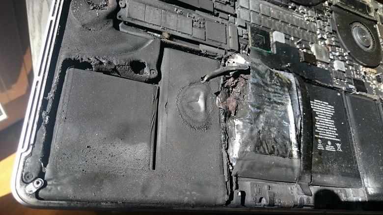Ноутбук MacBook Pro американского диджея загорелся у него на коленях