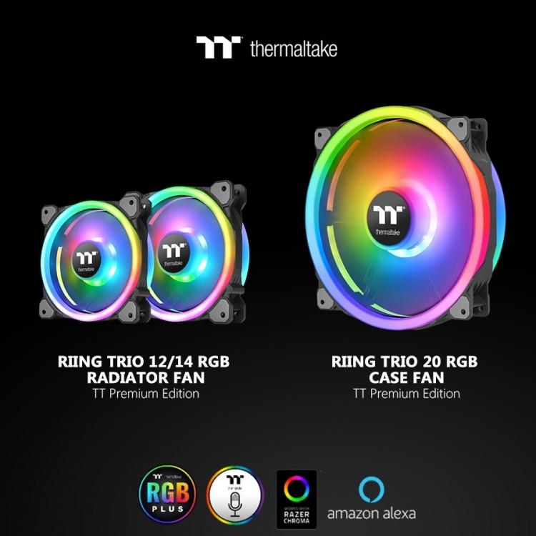 Computex 2019: Thermaltake представила вентилятор Riing Trio 20 LED RGB Case Fan TT Premium Edition