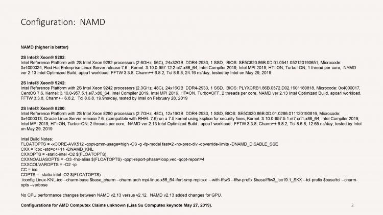 Intel опротестовала тесты AMD со сравнением Xeon и EPYC на Computex