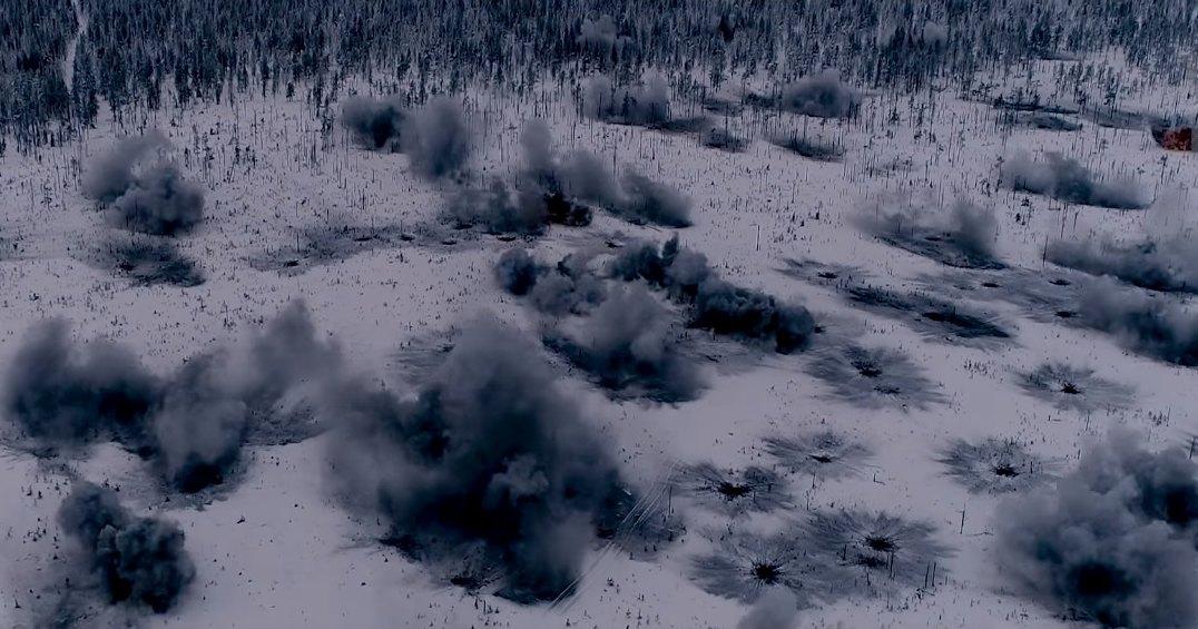 Как выглядит залп из 240 ракет: зрелищное видео