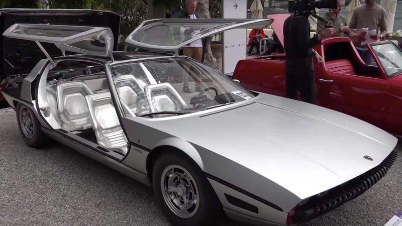 Показан необычный старый концепт Lamborghini