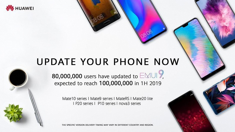 Новая прошивка EMUI 9 доступна 80 миллионам пользователей смартфонов Huawei