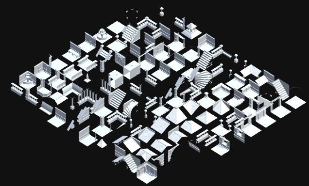 Unity: бесконечный процедурно генерируемый город, получаемый при помощи алгоритма WFC (коллапс волновой функции) - 3