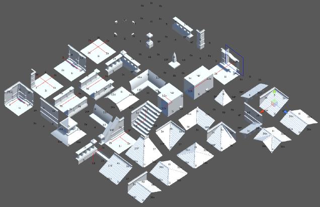 Unity: бесконечный процедурно генерируемый город, получаемый при помощи алгоритма WFC (коллапс волновой функции) - 4