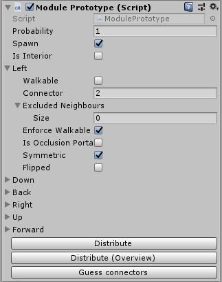 Unity: бесконечный процедурно генерируемый город, получаемый при помощи алгоритма WFC (коллапс волновой функции) - 5