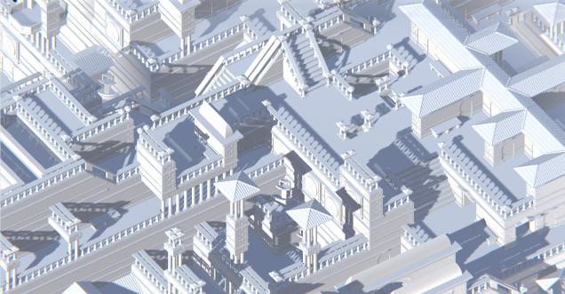 Unity: бесконечный процедурно генерируемый город, получаемый при помощи алгоритма WFC (коллапс волновой функции) - 6