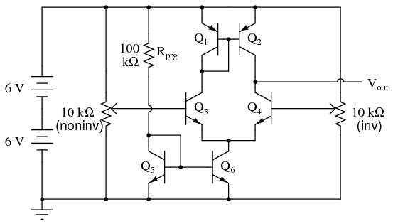 Простейший ОУ на дискретных элементах - 2