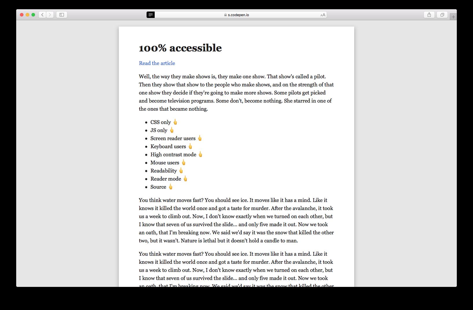 Создаём максимально недоступный сайт с идеальной оценкой Lighthouse - 10
