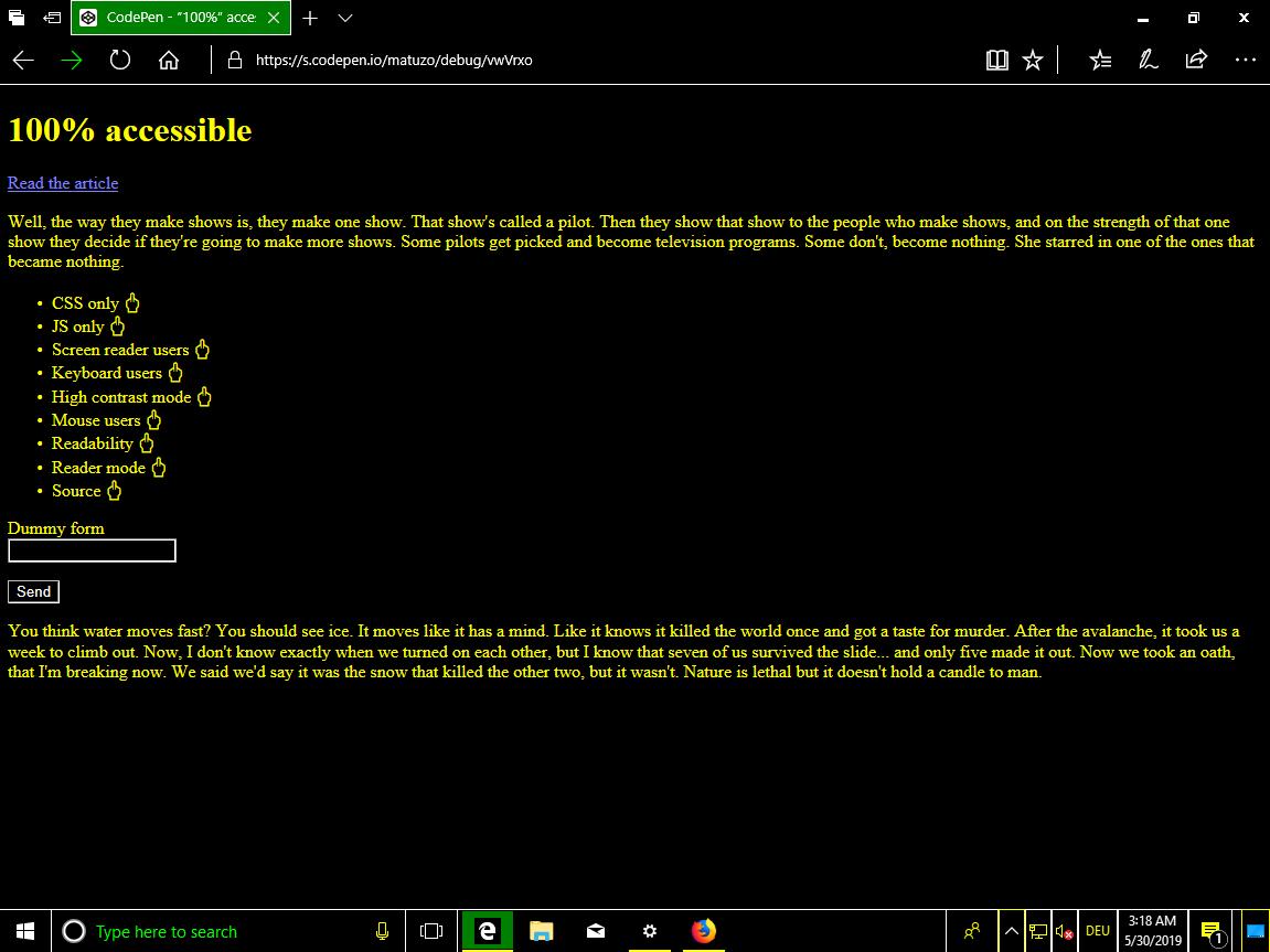 Создаём максимально недоступный сайт с идеальной оценкой Lighthouse - 7